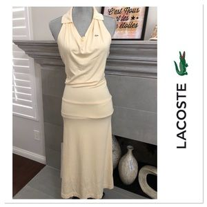Lacoste sexy low back maxi dress